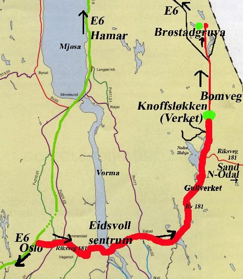 eidsvoll kart Gullverket museum Knofsløkken, Laboratoriet eidsvoll kart